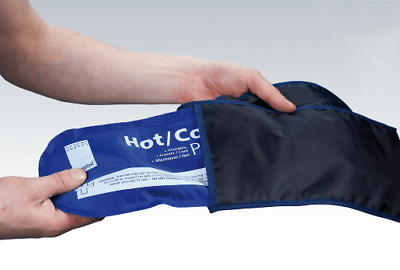 Hot and Cold Gel Ice Pack Holder with securing strap  - Note holder only