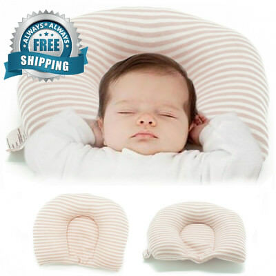 Newborn Baby Pillow Flat Head Infant Shaping Prevent Plagiocephaly Syndrome...