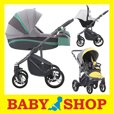 Kinderwagen Bebetto Murano Colors 3 in 1 Kinderwagen +Sportwagen + Autositz