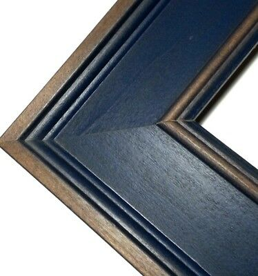 20 FT - Rustic Wide Wood Picture Frame Moulding, Blue Walnut Fade ...