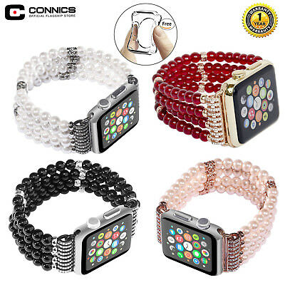 For Apple Watch Bling Pearl Beads Strap Bracelet Band For iWatch 3/2/1-42mm/38mm