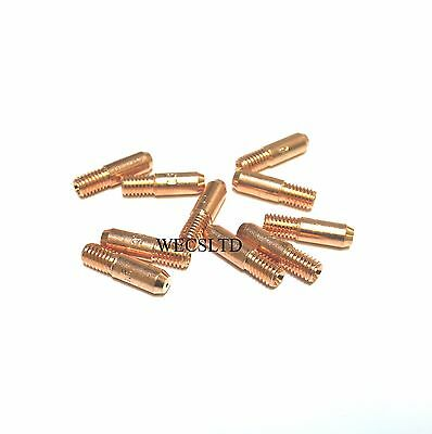 M5 (MB14) Mig Welding Contact Tips - (Pack of 10) 0.6mm, 0.8mm or 1.0mm