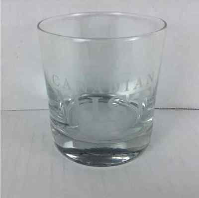 New Canadian Mist Whiskey Lowball Rocks Etched Glass Barware Cocktail