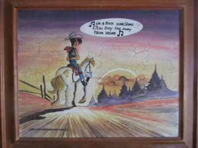 "Tableau Lucky Luke I""m à poor lonsome cow boy Merchandising 1993"