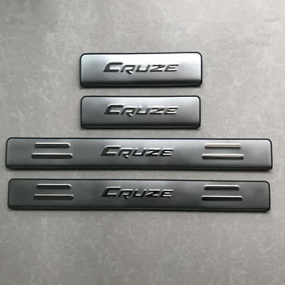 4pcs Stainless Steel Door Sill Scuff Plate For Chevrolet Cruze Sedan 2009-2015