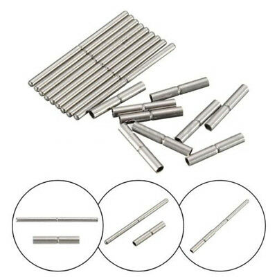 10Pcs 18mm-25mm Tube and Pins For Watch Bracelet Band Strap Stainless Steel Tool