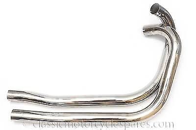 Exhaust Pipes, Triumph 5T, T100, 1939-52, 70-1519, 70-1520 UK Made Great Quality