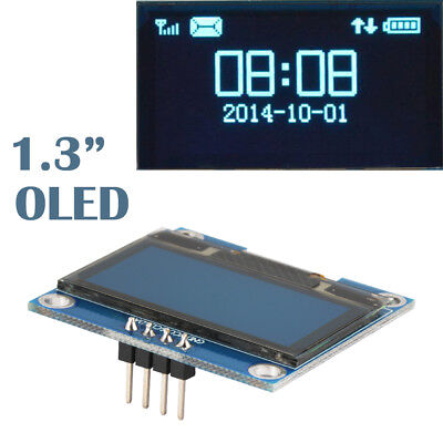 "1.3"" 4Pin OLED LCD Display Module 12864 IIC I2C Module SSH1106 for Arduino TE880"