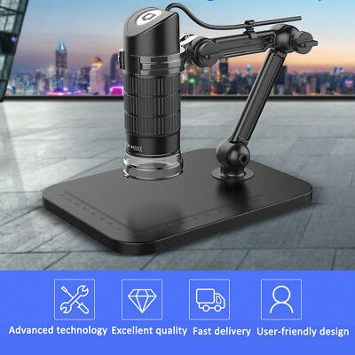 1000X 8LED USB Digital Microscope Endoscope Zoom Camera Magnifier + Stand TE859