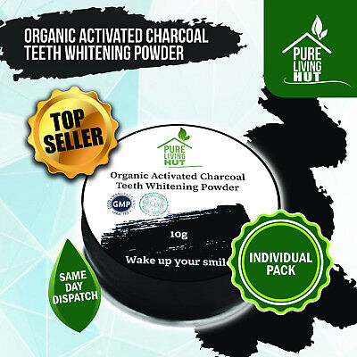 Organic Charcoal Teeth Whitening Powder & Powerful Stain Remover