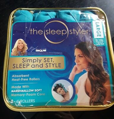 The Sleep Styler -Heat Free Curlers, Includes 8 Large 6 Inch Rollers