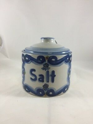 "M A Hadley Pottery 5"" Salt Container"