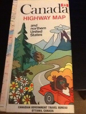 1970 Canada highway map travel map (Gov't published) printed in Canada