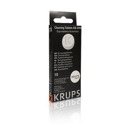 Genuine Krups Coffee Machine Cleaning tablets Australian Stock XS3000 x 10