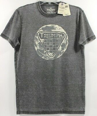 d44aeee14cd LUCKY BRAND TRIUMPH Classic British Motorcycles Seal Dark Olive T ...