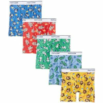 Little Boys' Boxer Briefs Multi, 2T/3T, (Pack Of 5) NEW NO TAX FREE SHIPPING