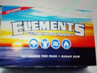 Elements Ultra Thin Single Wide Rice Cigarette Rolling Papers - Lot of 5 Packs
