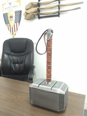 Avengers 1:1 Replica Thor Hammer Cosplay Props Alloy Metal Solid Heavy