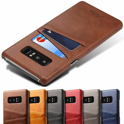 For Samsung Galaxy S8 Plus Note 8 Slim Leather Case Card Holder Skin Cover
