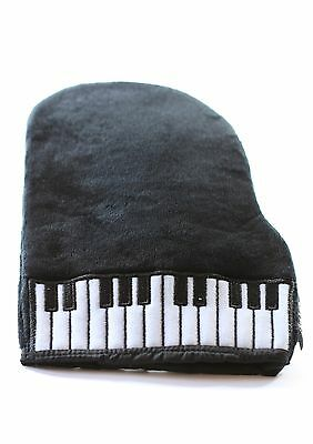 Super soft black velour fluffy piano cleaning polishing mitten glove free post