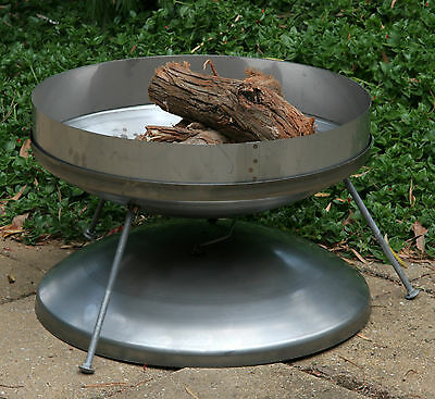 Firepit stainless steel canvas bag sealing lid extinguish flame Aussie 530mm dia