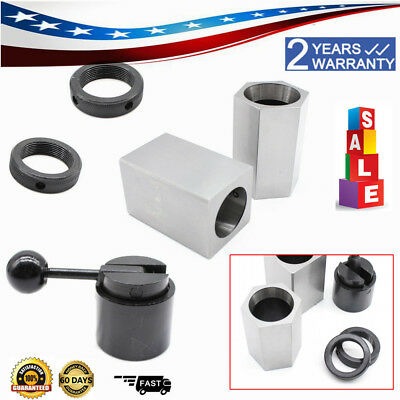 5C Collet Block Chuck Set - Square Hex Acting Rings collet Closer Holder Lathe