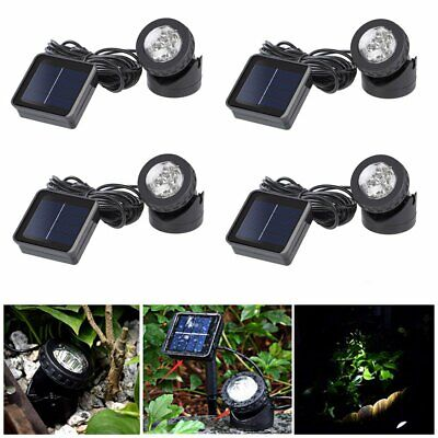 Solar Spotlights 6 LED Underwater Projection Lights Outdoor Garden Pond Lighting