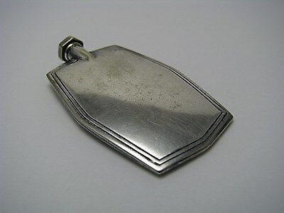 ART DECO SILVERPLATE SILVER PLATED PERFUME BOTTLE SCENT FLASK USA ca1940s USED