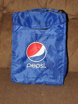 New Insulated Collectible Blue Pepsi Lunch Bag w/ Top Handle