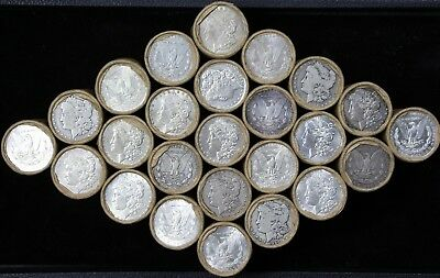 1x $20 Morgan 90% Silver Dollar Roll Old US Coins Lot Mixed 1878-1921 P S O CC