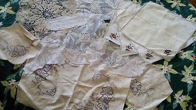 Bulk Lot Doilies Doily, Fabric, White/Cream, embroidery, craft