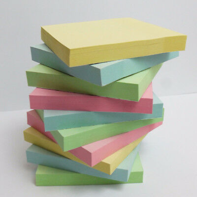 """100-1200  Removeable Sticky Post It Notes 76mm x 76mm 3""""x 3"""""""