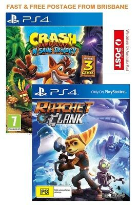 Crash Bandicoot Trilogy & Ratchet and Clank Playstation 4 (PS4) Game Brand New