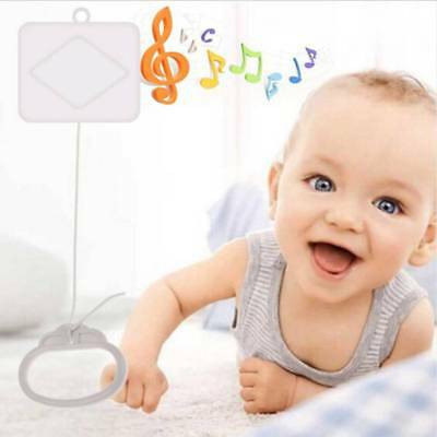 Kid Toy White Baby Bed Bell Pull String Cord Music Box Random Songs Baby Rattles