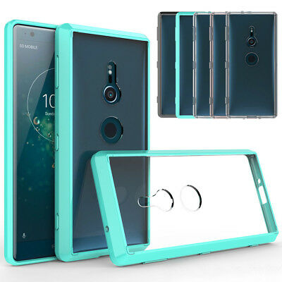 Clear Shockproof Protective Silicone Bumper Case Cover For Sony Xperia XZ2