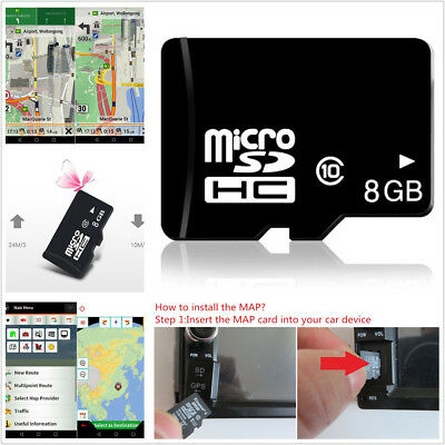 8GB Europe Micro SD Card Car SUV GPS Navigation Map Software For Android System