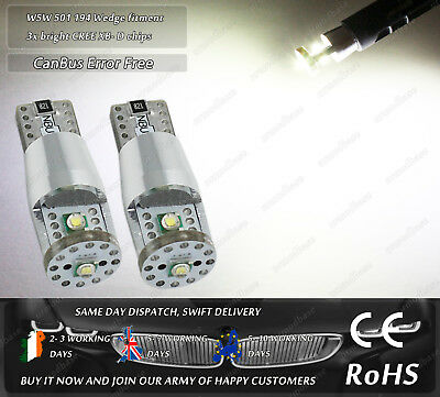 W5W T10 501 Wedge CanBus Cree LED Xenon White Side Lights Parking Bulbs 12V