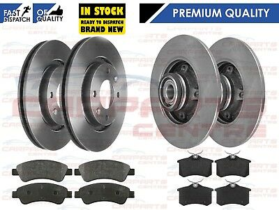 136BHP 9//2006-2 FRONT AND REAR BRAKE DISCS AND PADS FOR PEUGEOT 307 SW 2.0 HDI