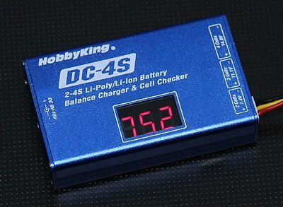 Ladegerät mit Lipo Checker Funktion  DC-4S Balance Charger  30w 2s ~ 4s