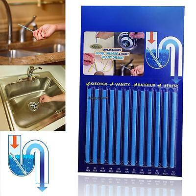 Kitchen Cleaning Tool Pipe Tub Drains Decontamination Stick Cleaners OO55 02