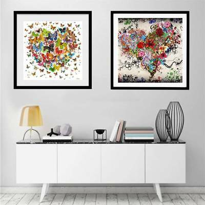 Butterfly Heart DIY 5D Diamond Painting Embroidery Cross Craft Stitch