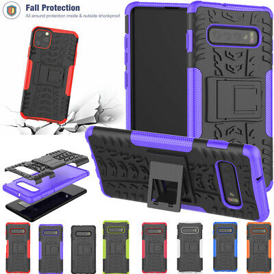 Armor Shockproof Heavy Duty Rubber Stand Case For iPhone11 Pro Max &Samsung S10+