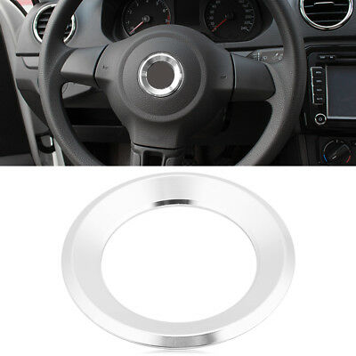 Vehicle Steering Wheel Decor Cover Ring Trim for VW Golf Tiguan Skoda Silver ZY