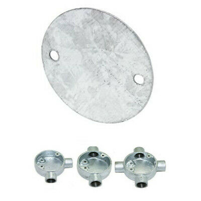 Galvanised Round Conduit Cover Lid In Galvanised Steel Junction Boxes - GLPCF
