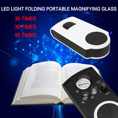 Magnifying Glass Magnifier Office Kits Lens Accessories Tools with 3 Light