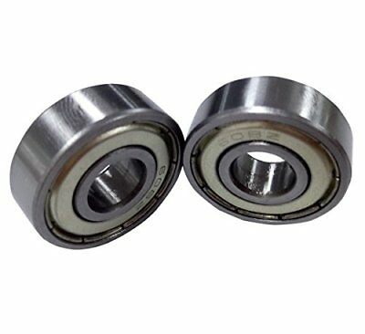 Antrader 10 Pcs Metal Shielded 608Z 8 x 22 x 7mm Deep Groove Ball Bearings Si...