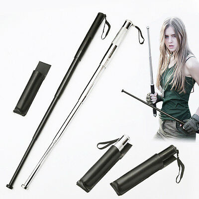 Portable Four Section Self-defence Telescopic Retractable Stick Outdoor Security