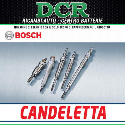 KIT 4 CANDELETTE ORIGINALI BOSCH DURATERM HIGH SPEED 0250402005