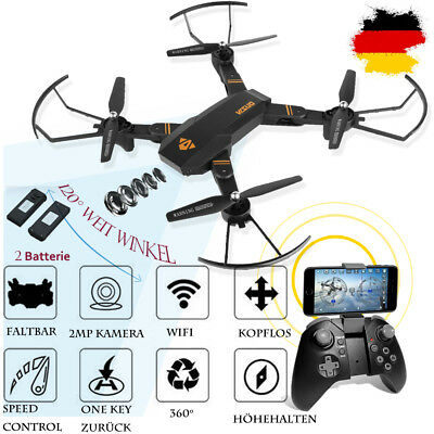 Visuo XS810W 2.4GHz 4CH 100M Quadcopter Drohne 2 Batterie 2MP Kamera SD WIFI