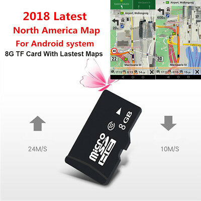 8GB Map SD Card Car GPS Navigation Map For Android system Mulitmeida Player